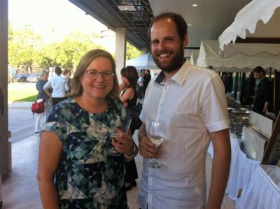 Feierabendbesuch in Stuttgart - Annette und Daniel trafen Susanne beim Mitarbeiter*innenfest.