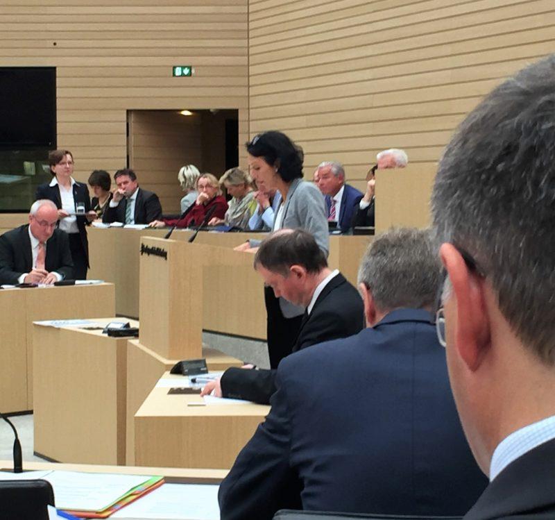 Engagierter Auftritt von Susanne im Landtag