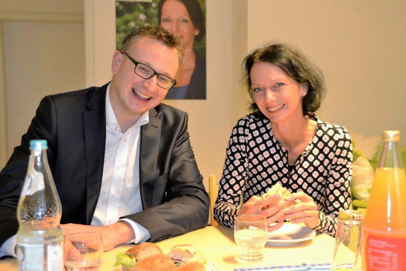 Andreas Schwarz, Vorsitzender der Grünen Landtagsfraktion, zu Besuch im Wahlkreisbüro