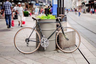 Fahrrad in einer Innenstadt